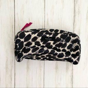 kate spade Leopard Zippered Cosmetic Bag